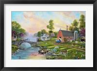 Framed Riverview Farm