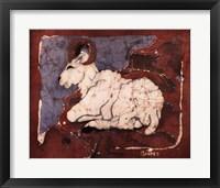 Framed Dall Sheep Batik
