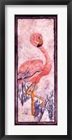 Framed Flamingo 1 Batik