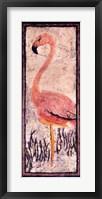 Framed Flamingo 2 Batik