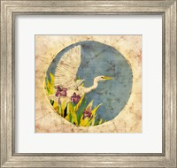 Framed Great Egret - Batik