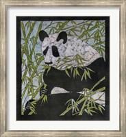 Framed Panda Batik