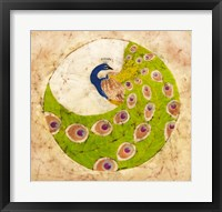 Framed Peacock Batik