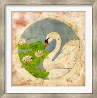 Framed Swan Batik