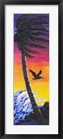 Framed Pelican Sunset