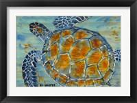Framed Underwater Sea Turtle