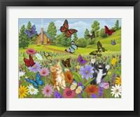 Framed Butterfly Meadow