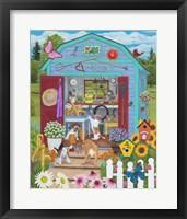 Framed Garden Shed