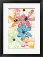 Framed Cotton Candy Floral