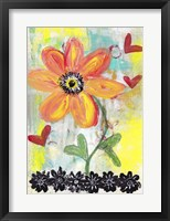 Framed Orange Flower