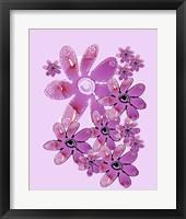 Framed Pink Flower Power