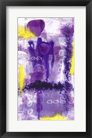 Framed Purple Abstract 2