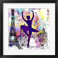 Framed London Ballerina Silhouette 1