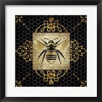 Framed Golden Honey Bee 1