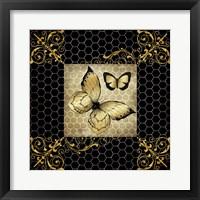 Framed Golden Butterflies 2