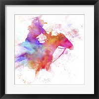 Framed Painted Cowgirl 3