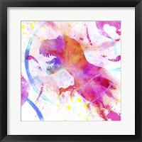 Framed Painted Pink Dino
