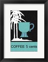 Framed Coffee Palm Trees