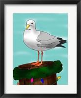 Framed Holiday Seagull