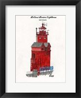 Framed Holland Harbor Lighthouse Michigan