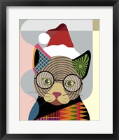 Framed Santa Kitty
