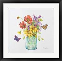 Framed Butterfly Blossoms