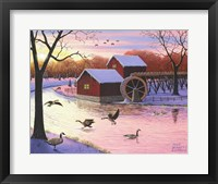 Framed Canadian Geese at the Old Grist Mill #2