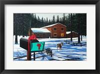 Framed Christmas in Big Bear