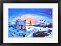 Framed Christmas in the Country #2 - Blue Tint