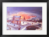 Framed Christmas in the Country #2 - Red Tint