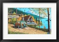Framed Eagle Lake Lodge