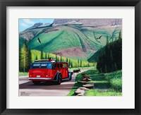 Framed Moose Crossing in Glacier Park