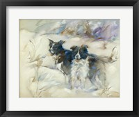 Framed Cow Dogs