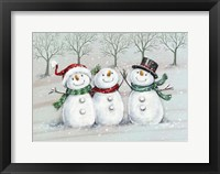 Framed Three Snowmen 2