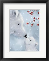 Framed Polar Bear And Cub 1