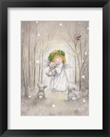 Framed Angel with Rabbit