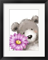 Framed Bear and Flower