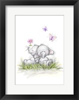 Framed Elephant Couple