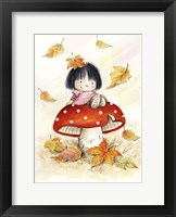 Framed Girl on Mushroom