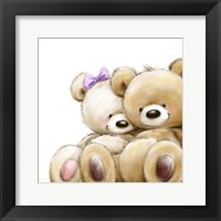 Framed Teddy Couple