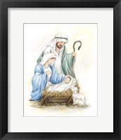 Framed Nativity Jesus baby