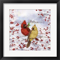 Framed Cardinal Couple
