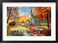 Framed Vermont Church Fall Fair