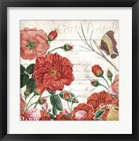 Framed Paris Rose