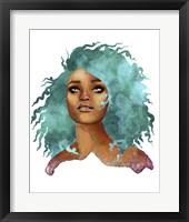 Framed People- Teal Hair