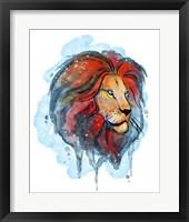Framed Watercolor Safari- Lion