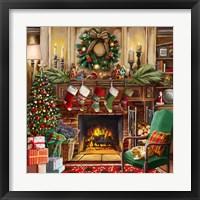Framed Fireside Christmas