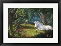 Framed Unicorn Fantasy Forest