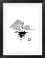 Framed Boat On River Li