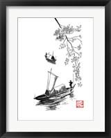 Framed Fishermen On River Li